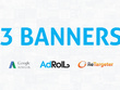 BANNER ad design Set for google display network /re-targeting banners (3 sizes)