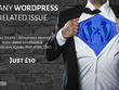 Fix any Wordpress related issue (JavaScript, jQuery, PHP, HTML, CSS )