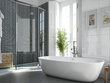 Design the best bathroom for you and high quality 3d render