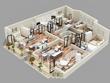 Model your 3d floor plan into 3ds max