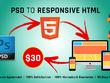 Convert your PSD to Responsive HTML5/CSS3 (Home Page, inner page 50% discount)