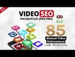 Manually submit your VIDEO to 85 video-sharing sites PR9-PR4 with SEO backlinks