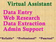 Do Data Entry/ Web Research/ Admin Support/ Virtual Assistant for 1 hour