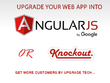 Upgrade your existing MVC/ASP.net web application into Angular/Knockout JS