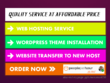 Install wordpress theme, Setup Web hosting, Web Design service