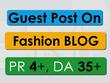 Do Guest post on PR-4, DA-35 Fashion blog