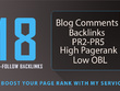 Provide 18 HQ SEO blog comments backlinks PR2 to PR5