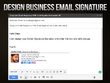 Design Email Signature for Outlook Gmail Hotmail Yahoo etc.