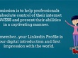 Rewrite and optimize your LinkedIn profile to shine