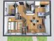 Turn your 2D drawing into a Photorealistical 3D Floor plan/3D perspective view