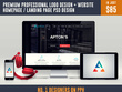 Premium Professional Logo Design + Website homepage / Landing Page PSD Design