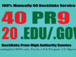 I will manually do 40 PR9 & 20 EDU/GOV Safe SEO High Pr Backlinks, 2017 Update
