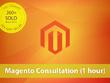 Provide one hour of Magento consultation for your website via phone or Skype