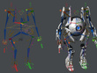 Make a 3D character rig for your animation project.