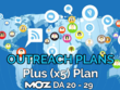 Provide our plus (x5) blogger outreach plan and publish at blogs of Moz DA 20-29