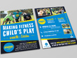 Design a poster or double sided flyer with unlimited revisions