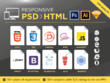 Convert Sketch, Xd or PSD to HTML & CSS - Responsive included