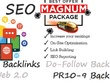 Make you Magnum SEO with PBN Backlinks, PR9 Social Signals, WEB 2.0 properties