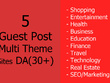 Write and publish 5 guest posts on DA30+ Multi Theme site