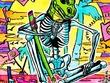 Draw a cool, bizarre, ink comic art or illustration