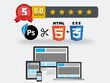 PSD to Responsive HTML, Email Template, Wordpress