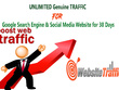 UNLIMITED Genuine TRAFFIC For Google Search Engine & Social Media Website for 30 Days