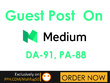 Publish a Guest Post on MEDIUM