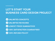 Design professional 2sided business card