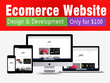 Design and develop an eCommerce website/store for you on blogger or wordpress