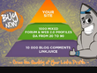 Make link pyramid of 1000 PR3 PR8 profiles and 10k blog comments