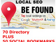 Manually list your website or business details in 70 high PR  directories and 50 S-B