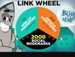 Do 75 high pr authority LINKWHEEL and 2000 social bookmarks