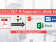 Convert PDF to Powerpoint or Word Format