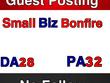 Publish guest post on SmallbizBonfire DA 26 PA 38 -- SmallBizBonfire.com
