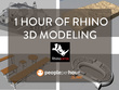 Provide 1 hour of Rhino 3D modeling for architecture, furniture