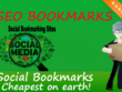 300 SEO SOCIAL BOOKMARKS WITH BACKLINKS & KEYWORDS
