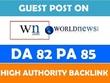 Do Guest Post on DA 82 site Wn.com