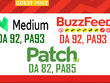 Guest post on Medium, Patch & BuzzFeed