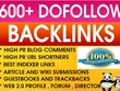 Create 600 contextual SEO backlinks to boost your Website Ranking