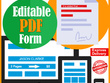 Create editable pdf for you
