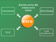 Enter upto 50 items into your xero account