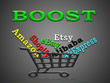 Promote any Amazon, eBay, Etsy, Alibaba, AliExpress or Shopify store by real traffic
