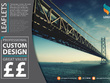 Design a double-sided leaflet / flyer (any size) to promote your business / product