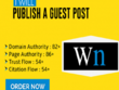 Able to Write and Publish Guest Post on wn.com