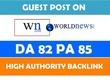 Publish a guest post on WN DA 82