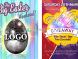 Produce a complete Easter social media package
