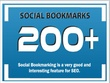 Manually add 200 Social Bookmarking Backlinks
