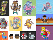 Produce a professional cartoon character design/ mascot design
