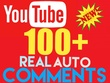 Post 100+ YouTube Video Auto Comments Positive OR 3000+ Real YouTube Video Views