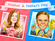 Draw a wonderful Mother's Day or Father's Day cartoon